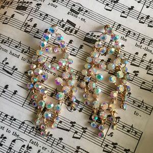 AB Crystal Statement Bubble Dangle Earrings